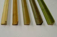 Молдинг (углавой внутренний) 1850х15х15мм . Цвет: светлый, тёмный, зелёный, светло бежевый, серо зелёный.