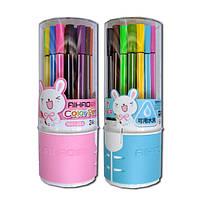 Фломастеры 24 цвета Aihao-1661-24A в пластиковой колбе