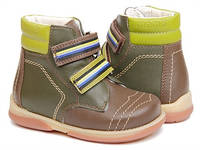 Ботинки зимние детские. Ортопедическая обувь MEMO, модель KARAT оливковые (22-30)