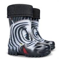 Резиновые сапоги Demar LUX PRINT Zebra new! с носочком детские
