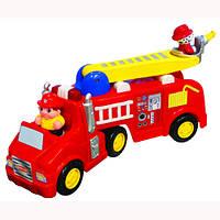 Детская Развивающая игрушка - ПОЖАРНАЯ МАШИНА (на колесах, свет, звук)