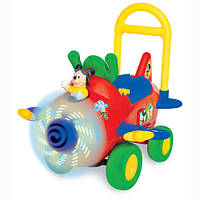 игрушка каталка Чудомобиль - САМОЛЕТ МИККИ (свет, звук)