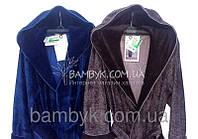 Бамбуковый халат  синий