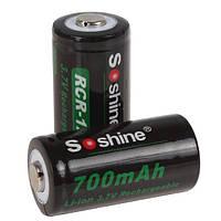 Аккумулятор Soshine 16340(RCR123) Li-Ion 700 mAh 3,7V (без платы защиты), фото 1