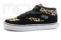 Черные кеды с леопардовыми вставками, фото 1