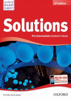 Solutions Pre-Intermediate Student's Book