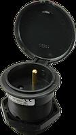 Столовая розетка (IP 30), 16A, 250V, 3 полюса цвет крышки черный (SZ 16S/1)