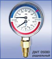Термоманометр металл с поверкой  6 (10) bar /120C вертикальный