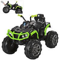 Детский электрический квадроцикл M 3156 EBR-2-5 зеленый с мягкими колесами и пультом управления