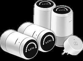 Беспроводной WiFi термостат LETO smart cтартовый комплект из 4 шт.