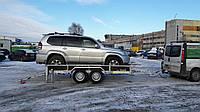 Прицеп для перевозки внедорожника 4м х 1,95м. Два тормозных торсиона!