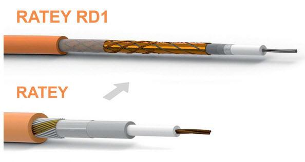 Преимущества кабеля RATEY RD1 относительно одножильного RATEY