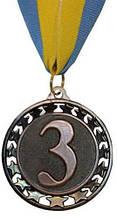 Медаль спортивна STROKE d-6,5 см C-4330 місце 1-золото, 2-срібло, 3-бронза (метал, 44g, на стрічці) 3-тє місце