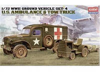 """Наземный транспорт 2МВ, серия 4 """"Американская скорая помощь и трактор для буксировки"""""""