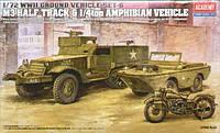 """Наземный транспорт 2МВ, серия 6 """"Американский БТР M3 и плавающий автомобиль Ford GPA"""""""