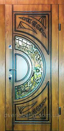 Входная дверь модель П5 514 vinorit-90 КОВКА+патина 1сторона, фото 2