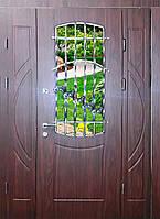 Входная дверь трех створчатая модель П3-1001 vinorit-61