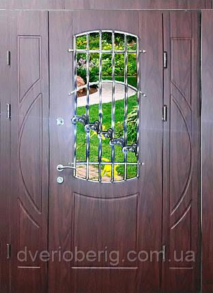 Входная дверь трех створчатая модель П3-1001 vinorit-61, фото 2