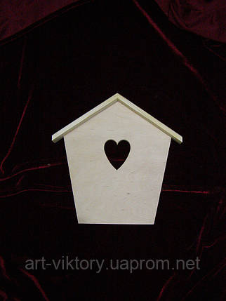 Ключница домиком с сердечком, фото 2