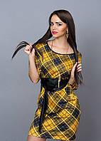 Женское платье в клетку в модных расцветках, фото 1