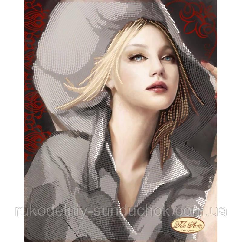 Схема для вышивания бисером Tela Artis Девушка в шляпе ТА-094