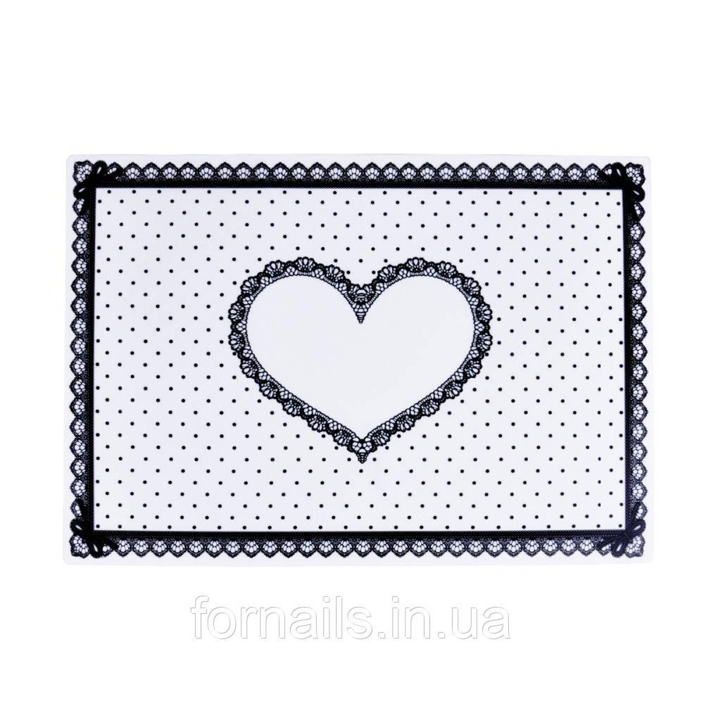 Силиконовый коврик для маникюра, белый