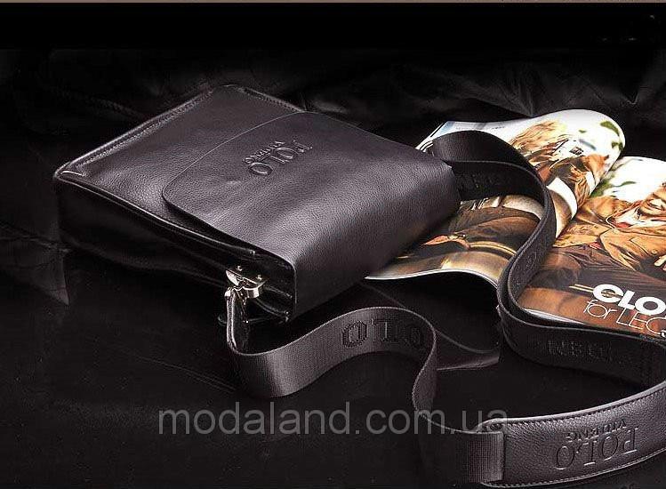 baad02e40229 Мужская кожаная сумка polo. Черный цвет: продажа, мужские сумки и ...