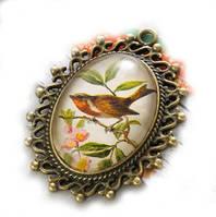 Подвеска-камея «Птица», фото 1