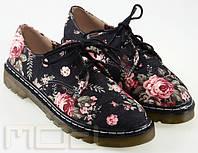 Ботинки с цветочным принтом, фото 1