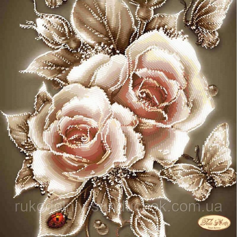 Схема для вышивания бисером Tela Artis Карамельные розы ТА-090
