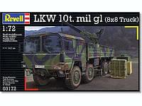 : Пластиковая модель грузовика MAN 10t milgl. 8x8 для склеивания