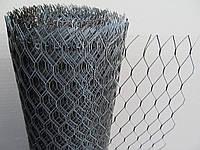 Сетка штукатурная просечно вытяжная черная. Ячейка:25х60мм, Толщина листа: 0,5мм, Ширина рулона: 1м.