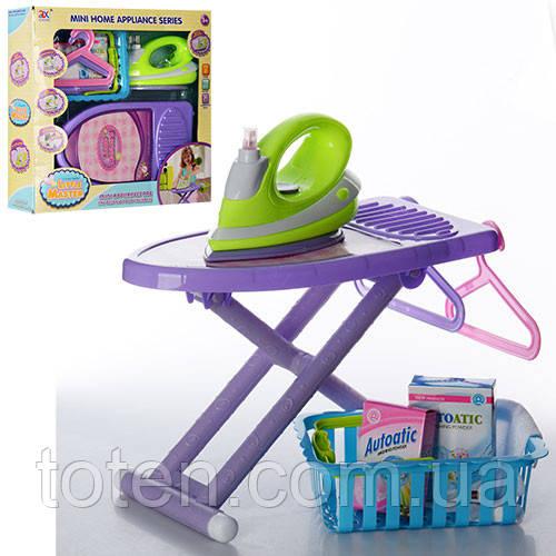 Набор детской бытовой техники утюг,  гладильная доска и корзинка 6960A (6989) 1533