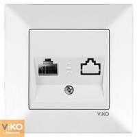 Viko Meridian Розетка TF телефон белая  90970013-WH
