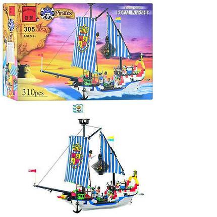 """Конструктор  """"Пиратский корабль"""" Brick 305, фото 2"""
