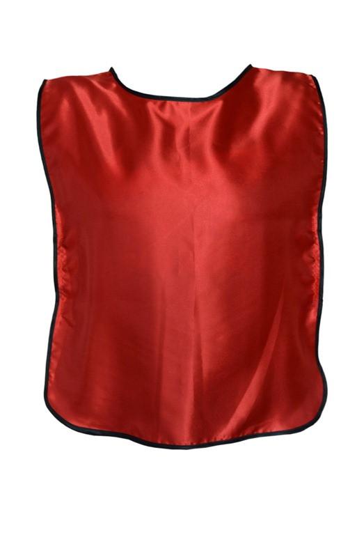 Манишка тренировочная односторонняя на резинках красная XXL