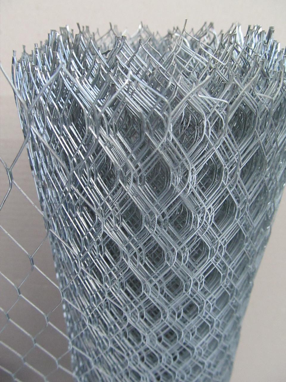 Сетка штукатурная просечно вытяжная оцинк. Ячейка: 10х25мм, Толщина листа: 0,5мм, Ширина рулона: 1м.