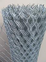 Сетка штукатурная просечно вытяжная оц. Ячейка: 3,2х13,4мм, Толщина листа: 0,5мм, Ширина рулона: 1м.