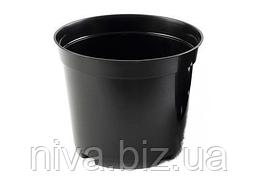 Техническая тара горшок 3 л диаметр 19 см высота 15 см Чорний