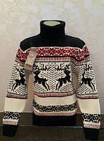 Детские свитера с оленями для мальчиков и девочек.
