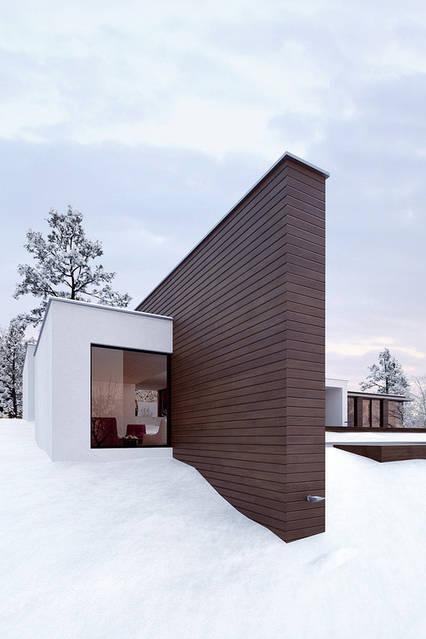 Материал широко используется и для различных фасадов, и для террас, как подшивочный материал.