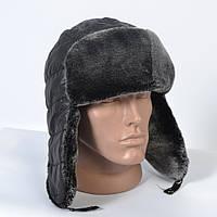 Теплая мужская шапка-ушанка на искусственном меху (код 29-604)