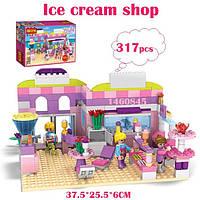 """Конструктор для девочек """"Ice cream shop"""" 317+ деталей COGO 14513"""