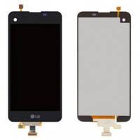 Дисплей (экран) для LG K500N, X Screen , X View K500DS + с сенсором (тачскрином) и рамкой Black