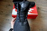 Зимние кроссовки Nike Air Huarache black/cosmo (Реплика ААА+), фото 2