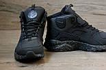 Зимние кроссовки Nike Air Huarache black/cosmo (Реплика ААА+), фото 3