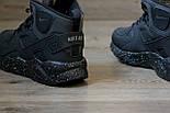 Зимние кроссовки Nike Air Huarache black/cosmo (Реплика ААА+), фото 4