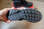 Зимние кроссовки Nike Air Huarache black/cosmo (Реплика ААА+), фото 5
