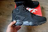 Зимние кроссовки Nike Air Huarache black/cosmo (Реплика ААА+), фото 6