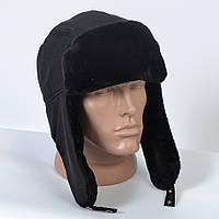 Теплая мужская шапка-ушанка с искусственным мехом (код 29-605)